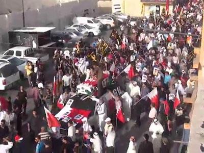 تصویر تشییع پیکر جوان بحرینی پس از 80 روز