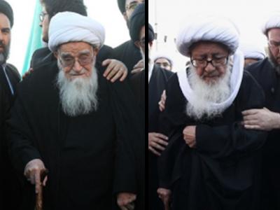 تصویر پیادهروی و عزاداری مراجع عظام تقلید در سالروز شهادت امیرالمؤمنین علی علیه السلام