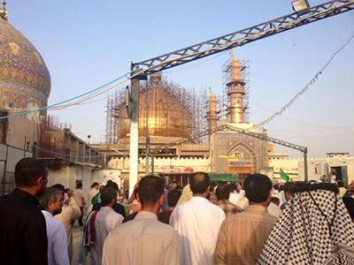 تصویر برگزاری مراسم روز یاری امامین عسکریین در عراق
