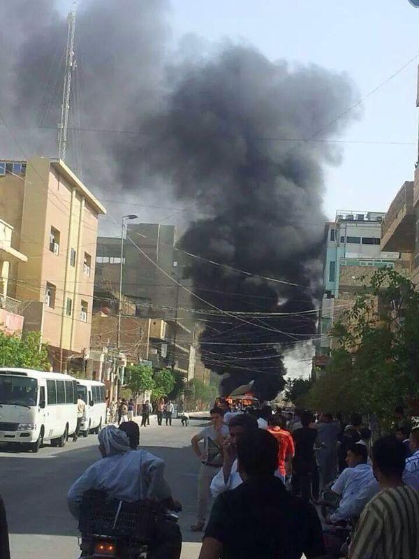 تصویر انفجار تروریستی در یک کیلومتری حرم مطهر عباسی + عکس