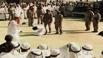 تصویر قصاص و گردن زدن در عربستان سعودی