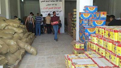 تصویر کمک رسانی دفتر مرجعیت به آوارگان در سنجار عراق