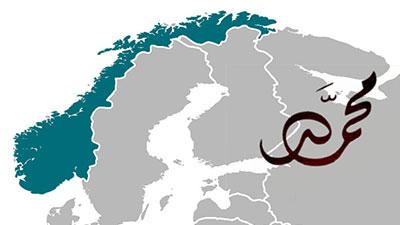 تصویر محبوبیت نام محمد بین نروژی ها
