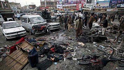 تصویر دو انفجار انتحاری در پاکستان