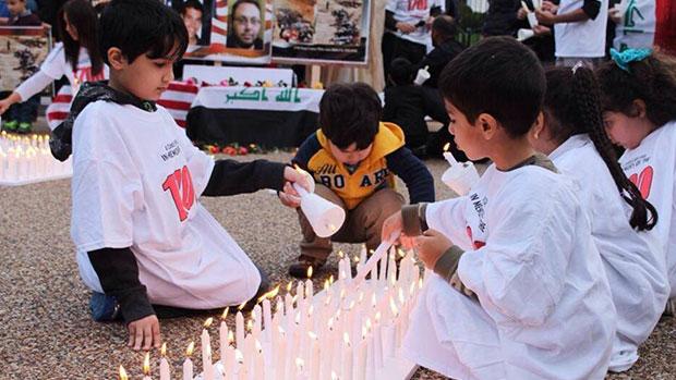 تصویر تجمع شیعیان مقابل کاخ سفید جهت محکومیت هولوکاست شیعی