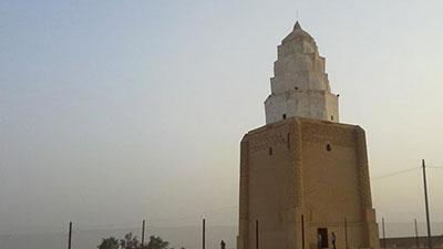 تصویر تخریب مرقد مطهر محمد بن موسی کاظم علیهما السلام در شرق تکریت