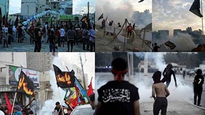 تصویر هجوم نیروهای امنیتی بحرین به عزاداران حسینی