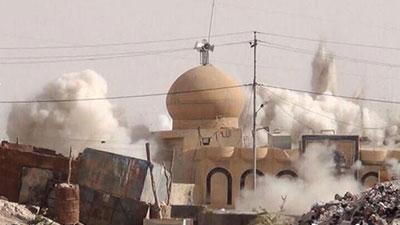 تصویر بازسازی 11 مرقد تخریب شده توسط داعش در عراق