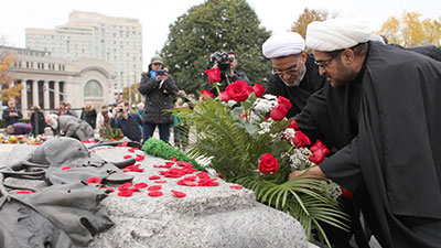 تصویر محکومیت حمله تروریستی به پارلمان کانادا توسط شیعیان