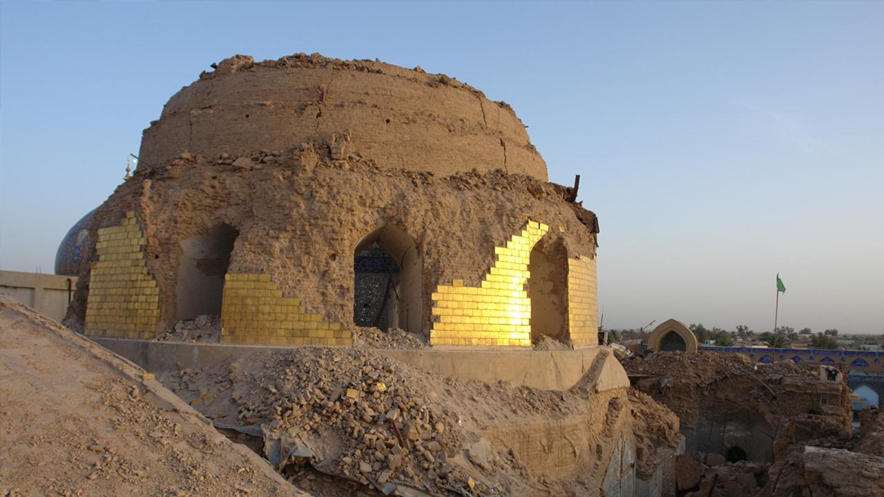 تصویر 23محرم الحرام سالروز تخریب گنبد و بارگاه حرمین عسکرین