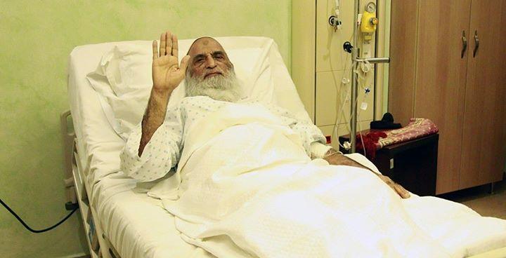 تصویر بهبود وضعیت جسمانی آیت الله العظمی شیخ بشیر نجفی