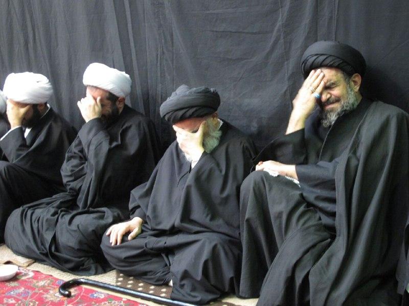 تصویر مراسم شهادت امام حسن مجتبی در بیت عظیم الشأن مرجعیت