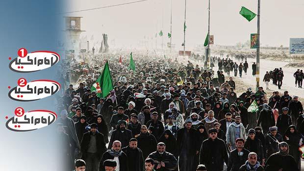 تصویر انعکاس بزرگترین تجمع بشری در عالم از مجموعه رسانه ای امام حسین علیه السلام