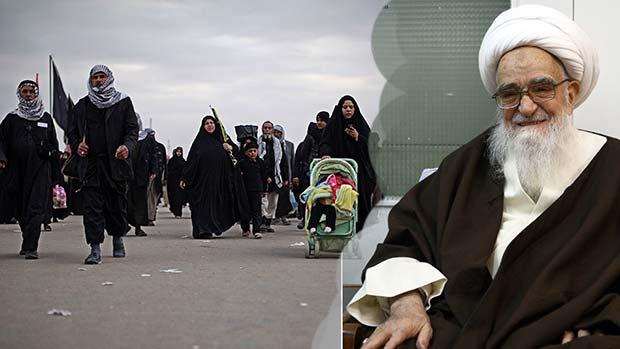 تصویر پيام آيت الله العظمی صافی گلپایگانی در تجليل و بزرگداشت اربعين حسینی