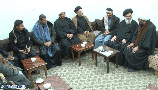 Photo of دیدار جمعی از فضلا و طلاب یمن با آیت الله العظمی شیرازی