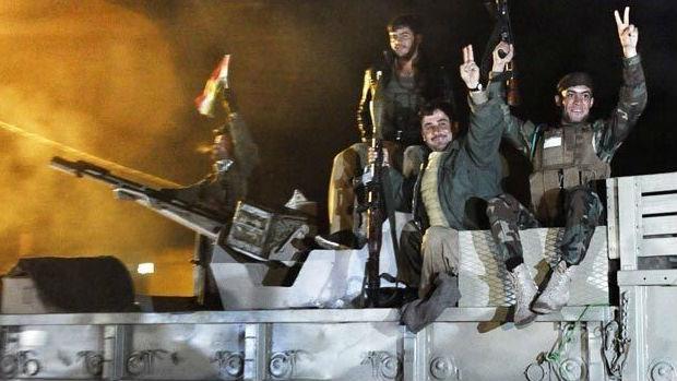 تصویر بیرون راندن داعش از سنجار