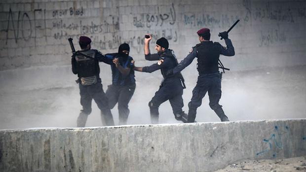 تصویر سرکوب شیعیان بحرین به اسم داعش