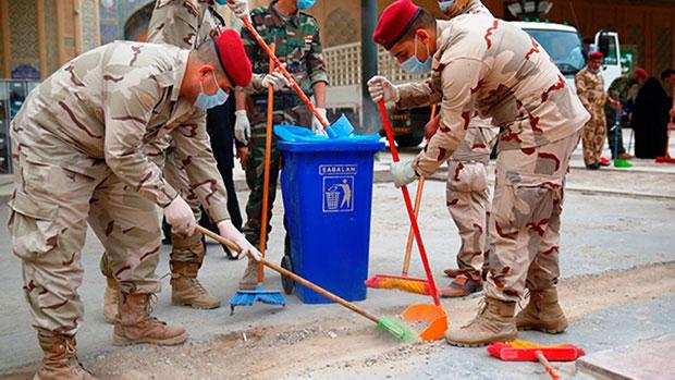 تصویر طرح نظافت و پاکسازی خیابانها نجف اشرف