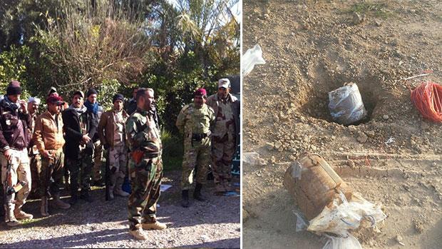 تصویر کشف و خنثی سازی بیش از ششصد و پنجاه بمب در سامرا