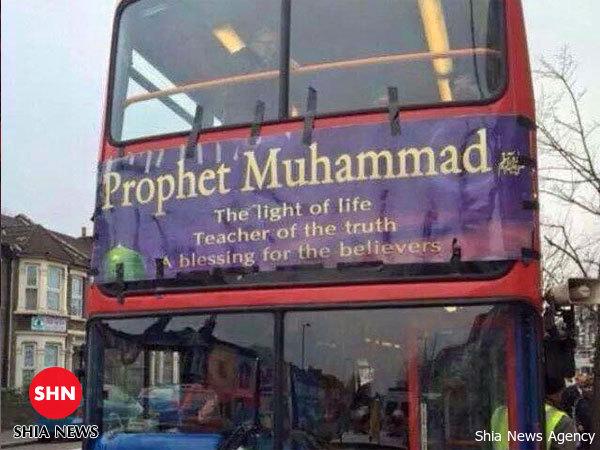 تصویر اقدام جالب اتوبوسهای لندن برای تأکید بر دوری اسلام از تروریسم