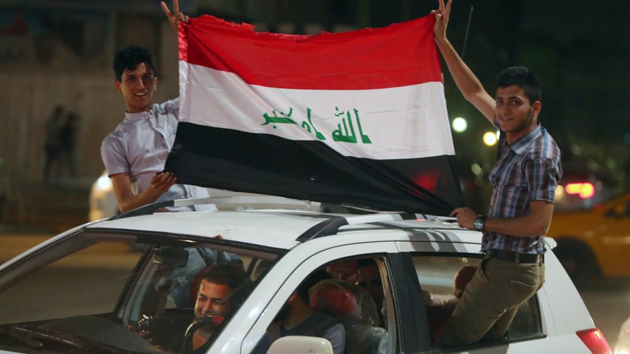 تصویر جلوگیری از ابراز شادی شهروندان عراقی توسط داعش