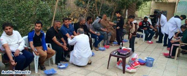 تصویر طرح اهدای خون به زخمیان جبهه های دفاع از مقدسات عراق