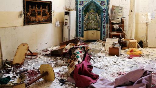 تصویر انفجار یک خودروی بمب گذاری شده در حسینه بغداد