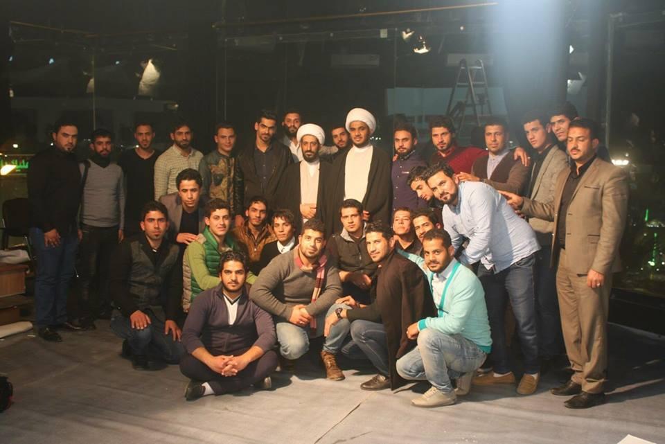 تصویر بازدید گروهی از دانشجویان دانشکده های بغداد از شبکه جهانی امام حسین علیه السلام