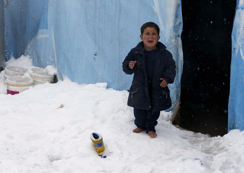 تصویر وضعیت بحرانی آوارگان سوری و عراقی در سرمای زمستان