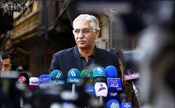 تصویر دیدار رئیس مجلس سنای پاکستان با مراجع تقلید در نجف اشرف