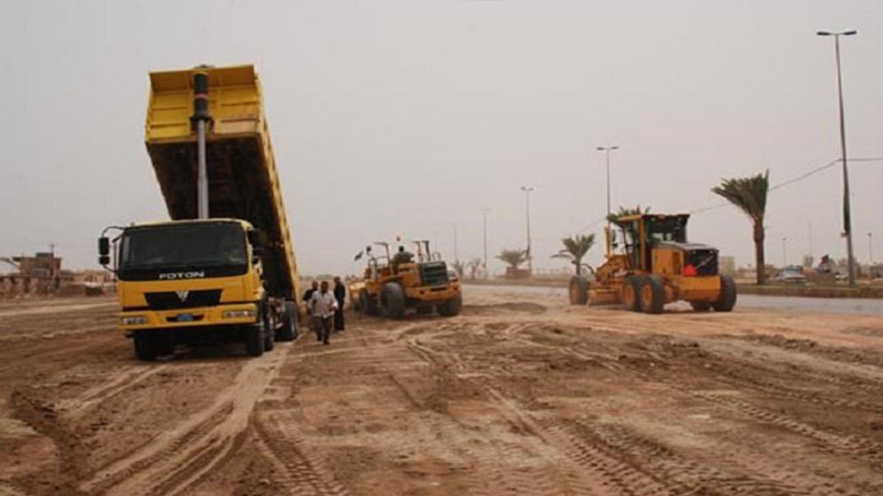 تصویر احداث جاده یامهدی حد فاصل میان شهر های دیالی و سامرا