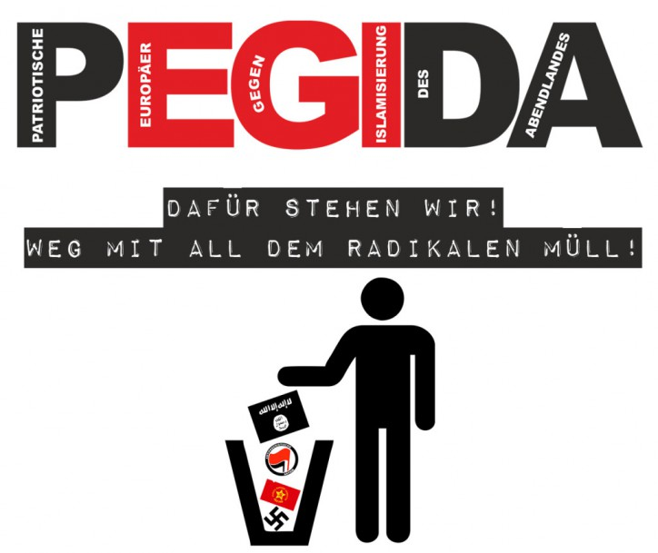 تصویر تظاهرات اعتراض آمیز علیه جنبش ضد اسلامی پگیدا در اتریش