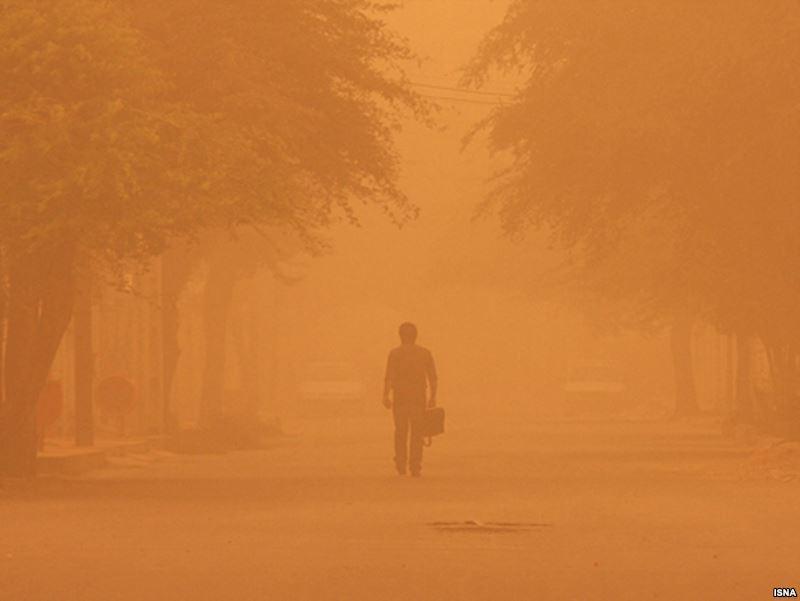 تصویر آلودگی هوای خوزستان به دهها برابر حد مجاز خود رسید