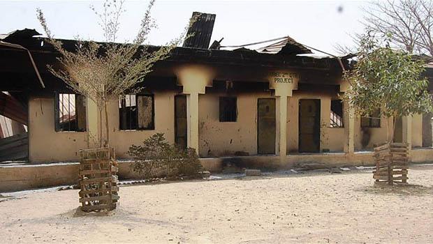تصویر به آتش کشیدن شهری در نیجریه توسط بوکوحرام