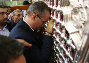 تصویر زیارت فرستاده ویژه سازمان ملل به عراق از حرم مطهر علوی