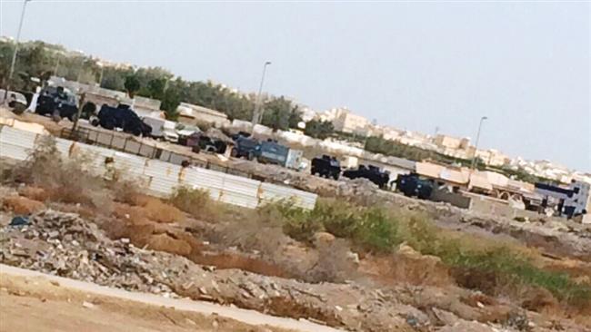 تصویر یورش نیرو های آل سعود به شهر العوامیه در شرق این کشور