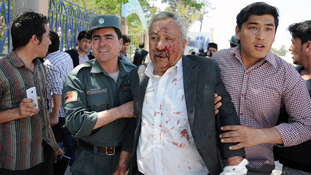 تصویر حمله تروریستی طالبان به دادستانی مزار شریف افغانستان