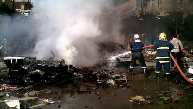 تصویر انفجار خودروی بمب گذاری شده در بغداد