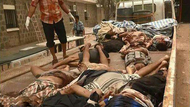 تصویر قتل عام سربازان یمنى به دست القاعده