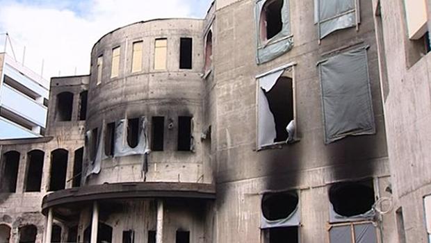 تصویر به آتش کشیدن مسجدی در شهر ویتن آلمان