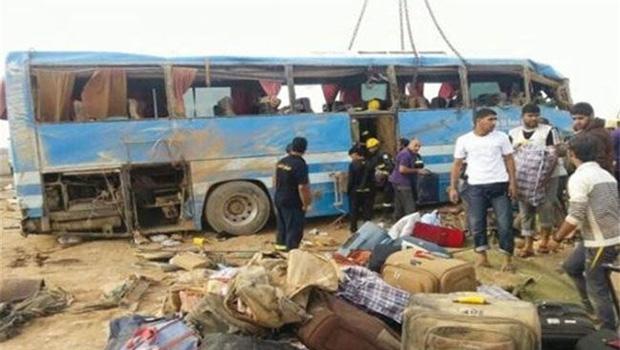 تصویر انفجار تروریستی در مسیر زائران ایرانی در عراق