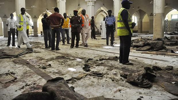 تصویر انفجار انتحاری در مسجد شیعیان پوتیسکام در شمال نیجریه