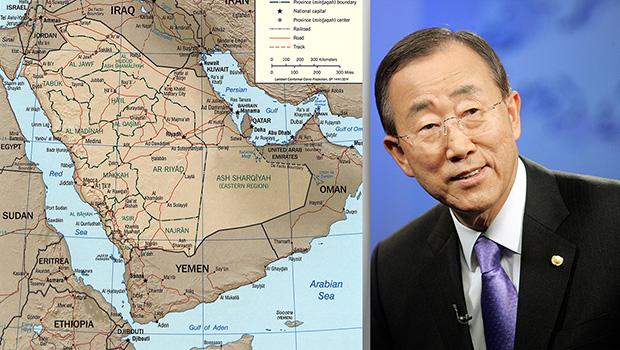 تصویر ابراز نگرانی بان کی مون از ادامه حملات عربستان عليه یمن