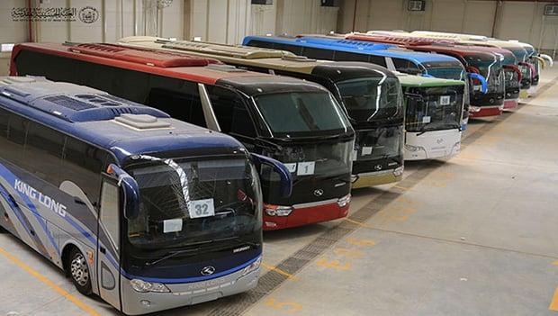 تصویر خرید ۶۱ دستگاه اتوبوس توسط آستان مقدس حسینی، برای آسایش زائران