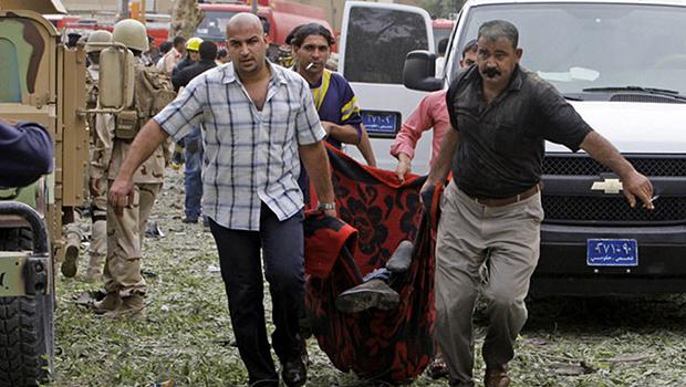 تصویر انفجار خانه بمب گذاری شده در جنوب بغداد