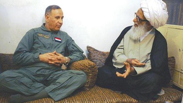 تصویر تاکید آيت الله العظمى شيخ بشير نجفى بر مشارکت نیروهای مردمی و ارتش عراق برای سركوب داعش