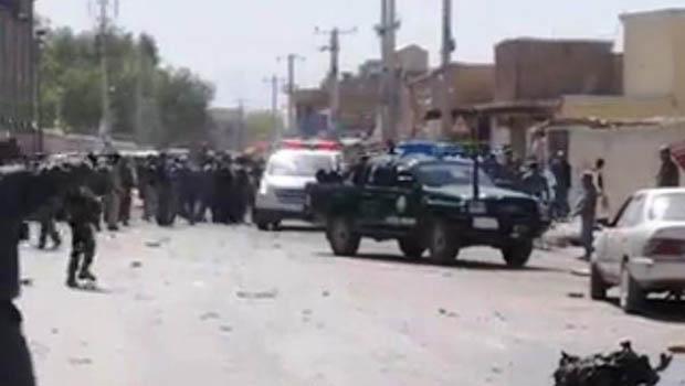 تصویر انفجار انتحاری در قندهار افغانستان
