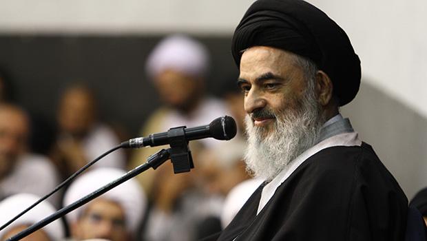 تصویر آيت الله العظمى شيرازى : قرآن و عترت تنها ملاك حق و حقيقت و معيار سعادت و رستگارى دو جهان