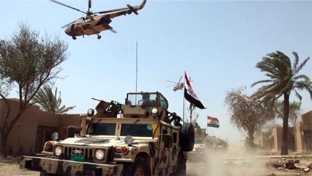 تصویر عملیات گسترده نیروهای مردمی و ارتش عراق در رمادی و الانبار