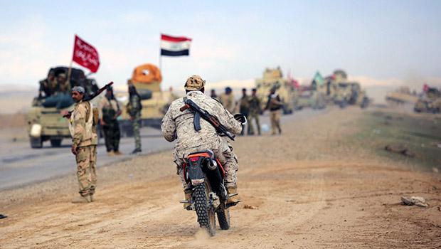 تصویر محاصره داعش توسط نیروهای مردمی عراق در صلاح الدین